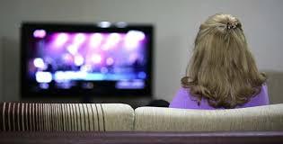 women watching tv